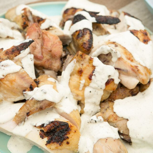 Grilled Chicken with Alabama White BBQ Sauce By Jeff Mauro