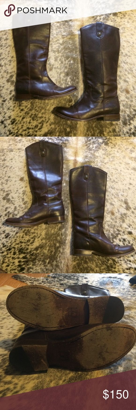Brown Frye Melissa Riding Boot Worn a handful of times - check picture for sole wear. Frye Shoes