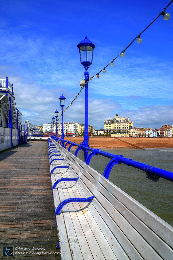 View from the Pier towards the coast at Eastbourne, East Sussex, United Kingdom, BN21.
