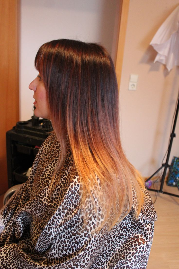 Ombre Brown Fading Into A Honey Blonde Hair