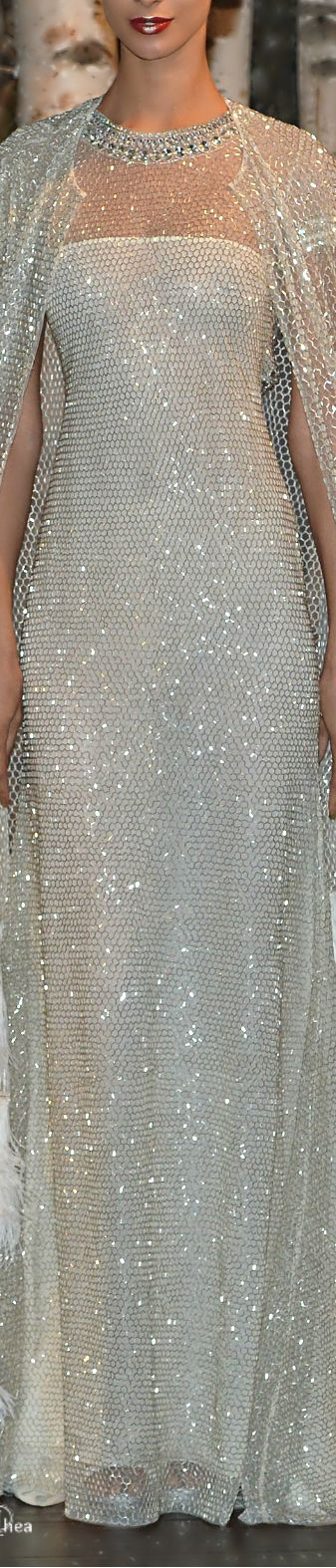 Naeem Khan Bridal Spring 2015--Cape with Feather Trim!                                                                                                                                                      More