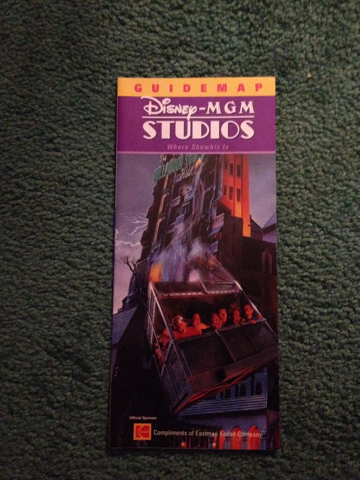 California Map Disney%0A Wdw DisneyMGM studios      guide map