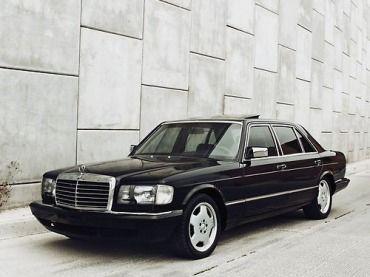 Custom Mercedes Benz W126 420sel Black On Black Image 1 Old