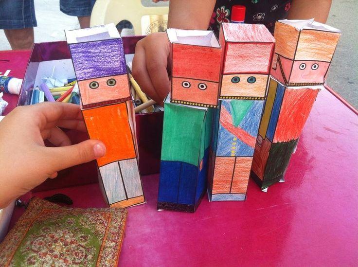 Soldaditos de papel en 3D #niños #CaminArt taller didáctico