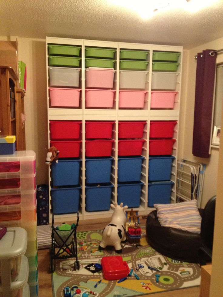 Ikea Trofast Wall Of Units For The Playroom Wall