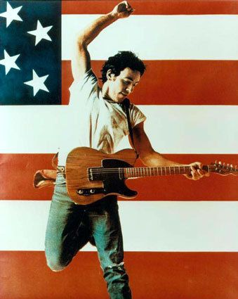 """""""Born down in a dead man's town. The first kick I took was when I hit ground. Born in the USA. I was born in the USA"""" No air guitar in the shower please."""