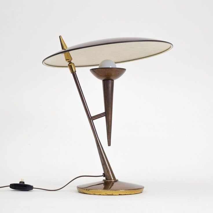 Stilnovo Brass Table Lamp, circa 1950