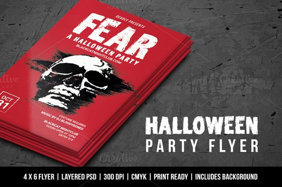 Halloween Party Flyer by Vital Zigns on @creativemarket