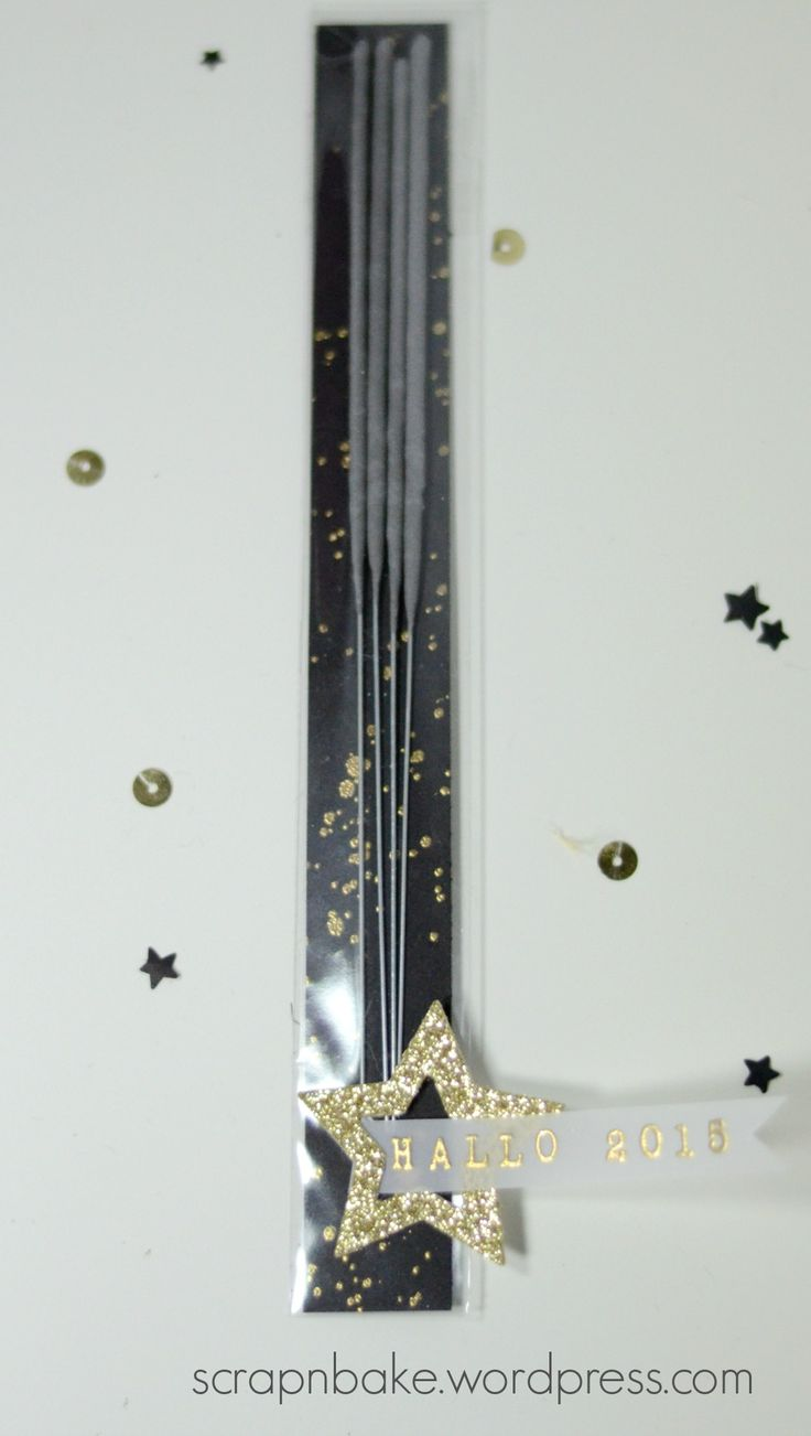 Stampin' Up - Silvester - New Year - Neujahr - Black and Gold - Wunderkerzen - Verpackung