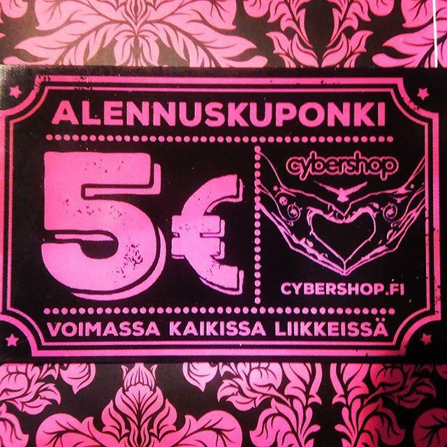 Cybershopin joulukausi on nyt virallisesti avattu! Sen kunniaksi jokaisesta yli 50€ ylittävästä ostoksesta tällainen alenuskuponki kaupan päälle! Samoin jokaisesta yli satasen ylittävästä ostoksesta kaksi kuponkia jne.. Tervetuloa ostoksille.  #cybershopmatkus #cybershopkuopio #cybershop #ale #sale #rea #kuponki #coupon #joulukausi
