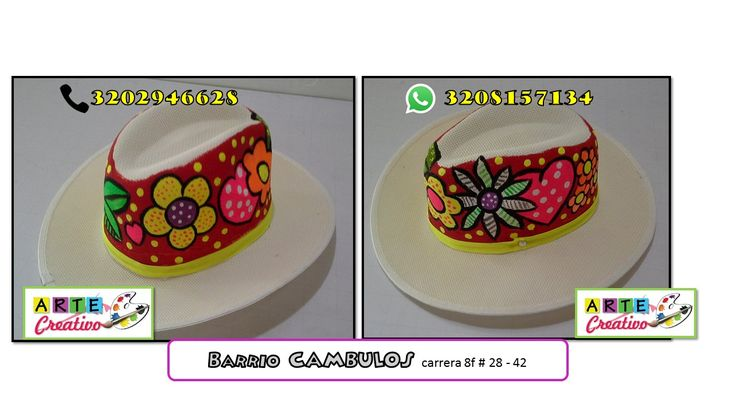 sombreros de mujer pintados - Buscar con Google