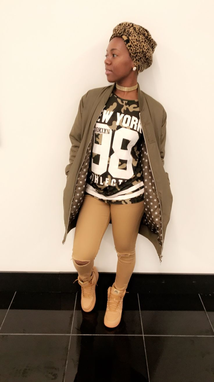 Dear brown girl...  Wheats Air Force ones Urban outfit Nude pants
