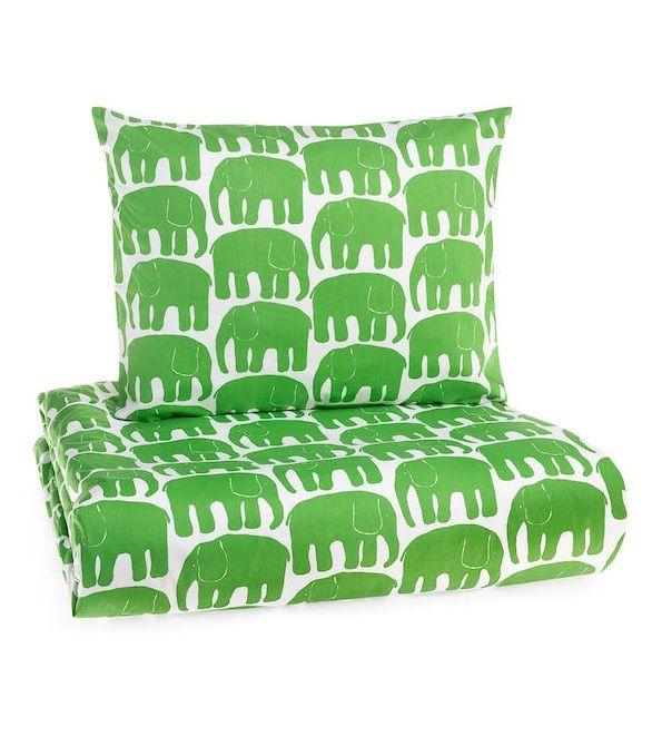 Elefantti, Grön elefanter påslakan, Finlayson