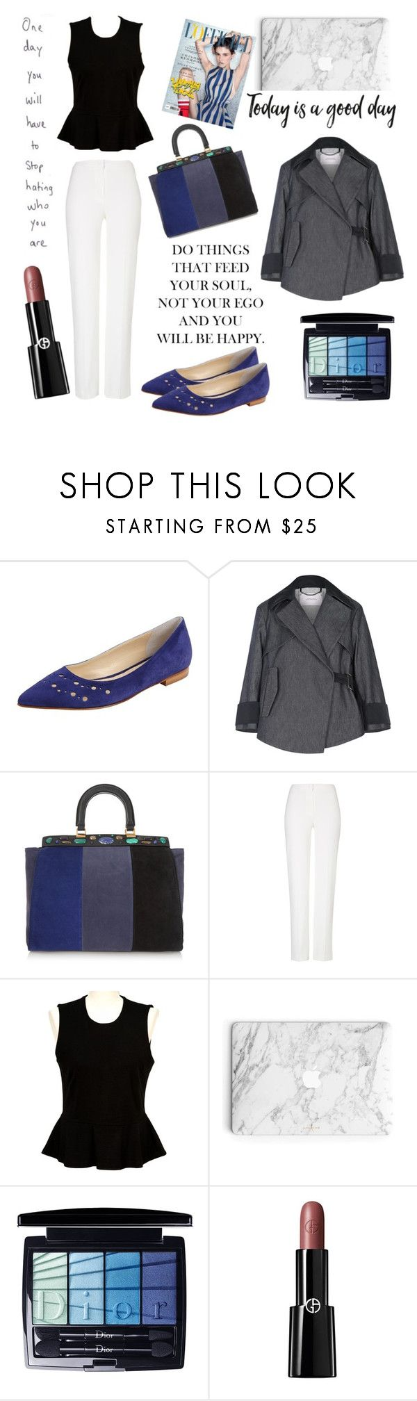 """Untitled #91"" by coffeegirl233 ❤ liked on Polyvore featuring Butter Shoes, Dorothee Schumacher, Tory Burch, ESCADA, French Connection, Christian Dior and Giorgio Armani"