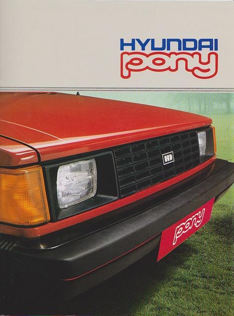 1985 Hyundai Pony Brochure 01 by dave_7, via Flickr