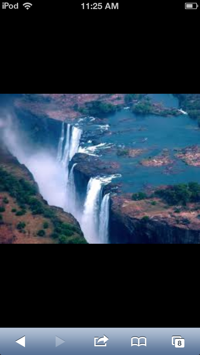 This is the Victoria Falls in Zambia