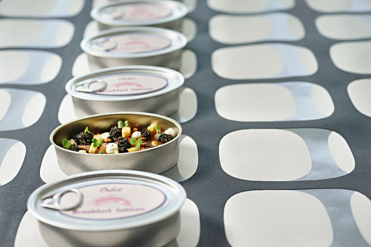 Tinned salmon.  Orbit restaurant. Luna2 studiotel, bali. #Lunafood #food #tinnedsalmon #salmon #fun #restaurant #design