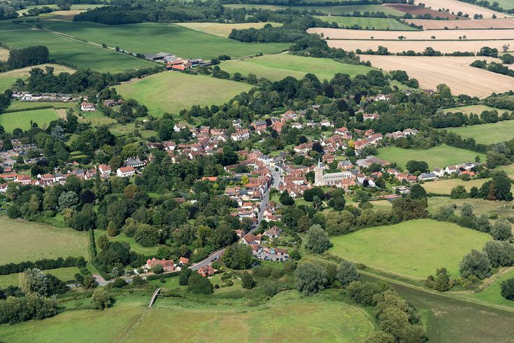 The village of Nayland in the Stour Valley - Suffolk UK aerial