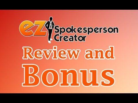 EZ Spokesperson Creator   EXTRA BONUS DOWNLOAD