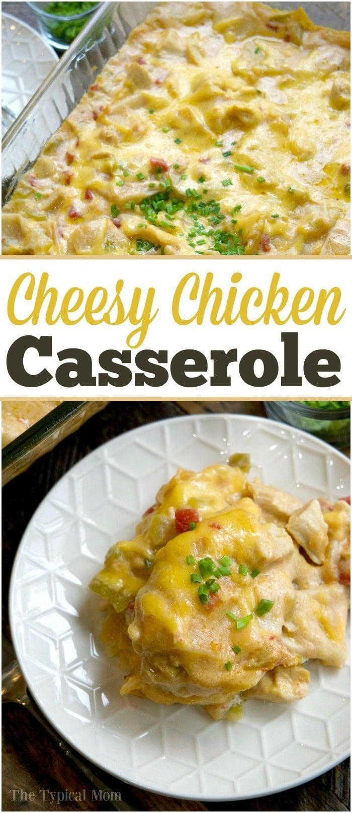 This chicken tortilla bake casserole is amazing!! My kids favorite cheesy casserole packed with chicken, chiles, and quick to throw together! AD via @thetypicalmom