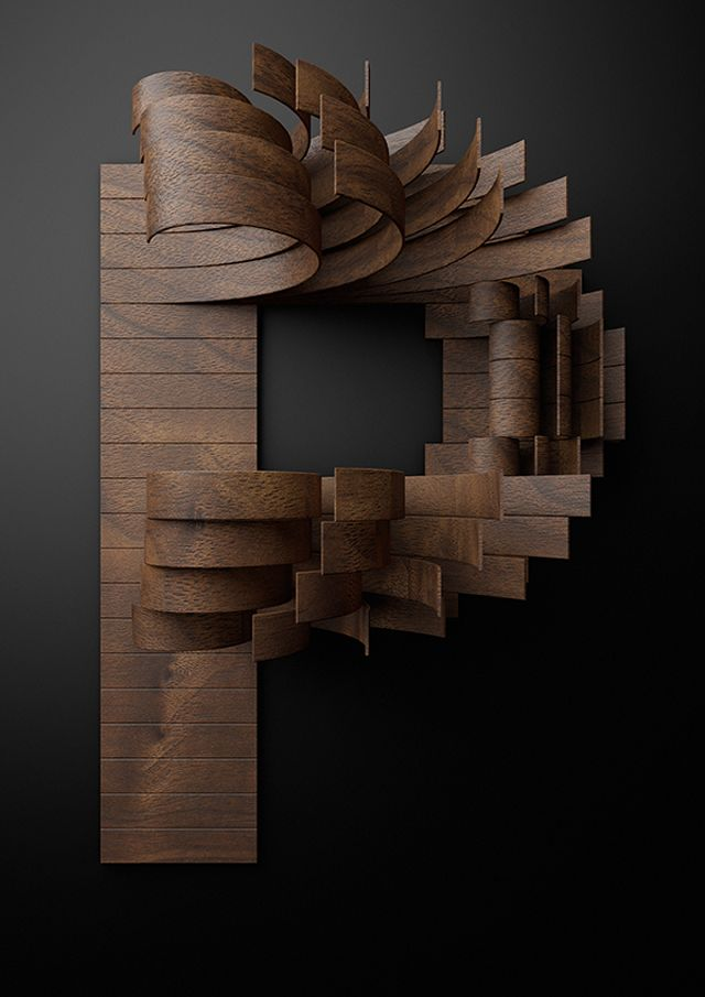 Nike Typography with Wooden Slats by Txaber, a graphic designer based in Bilbao Spain