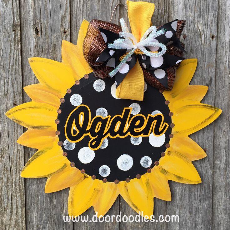 Best 25+ Sunflower door hanger ideas on Pinterest ...