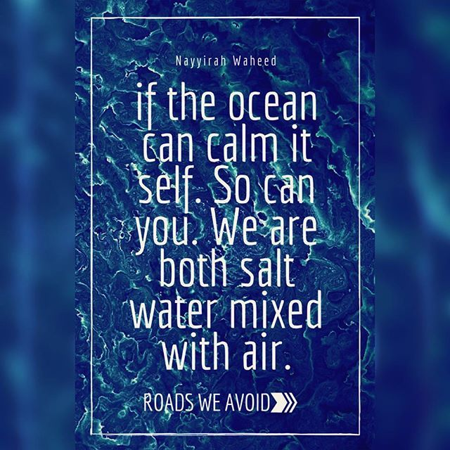 If the ocean can calm itself so can You. We are back both salt water with air. .  .  #roadsweavoid #rovoid #rovoidquotes #rovoidwisdom #quotes #motivationalquotes #inspirationalquotes #quoteoftheday #qotd #lifequote #instaquote