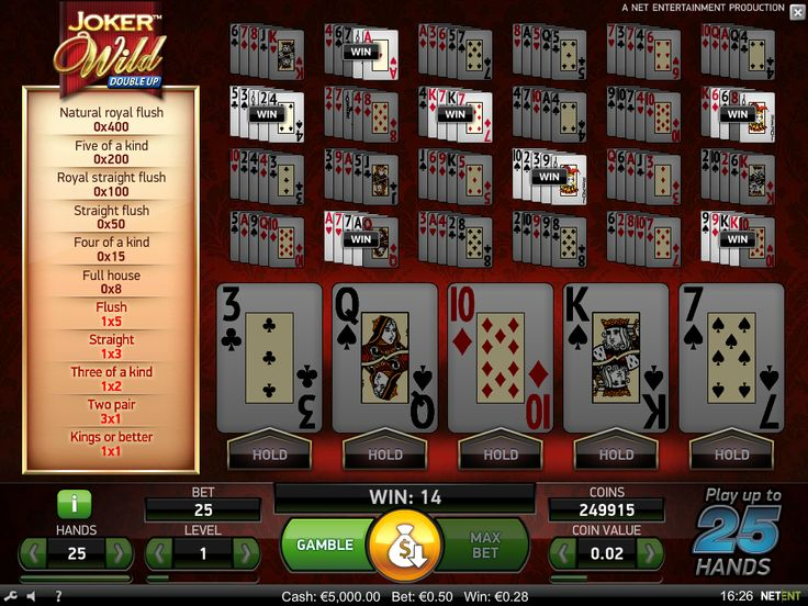 Joker Wild video poker is available for #play -https://www.wintingo.com/