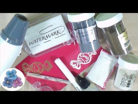 ▶ Tecnicas de Embossing Scrapbooking *Scrapbook Tutorial* Material para Scrapbook Pintura Facil - YouTube