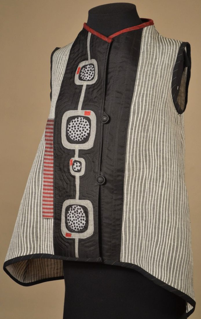 Vest. Would love to make this in handwoven fabric.