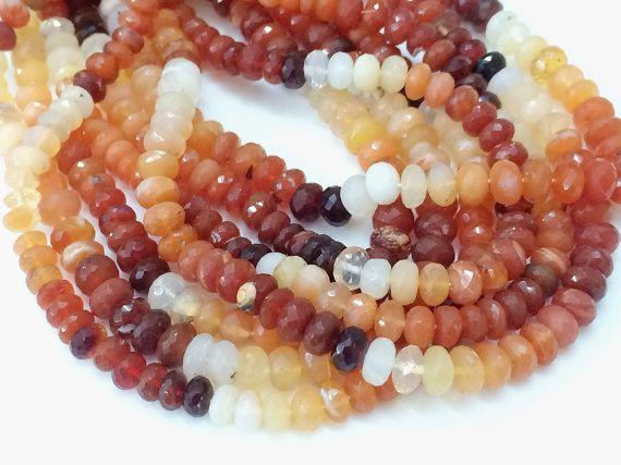 Fire Opal Bead Mexican Fire Opal Opal Beads Opal by gemsforjewels