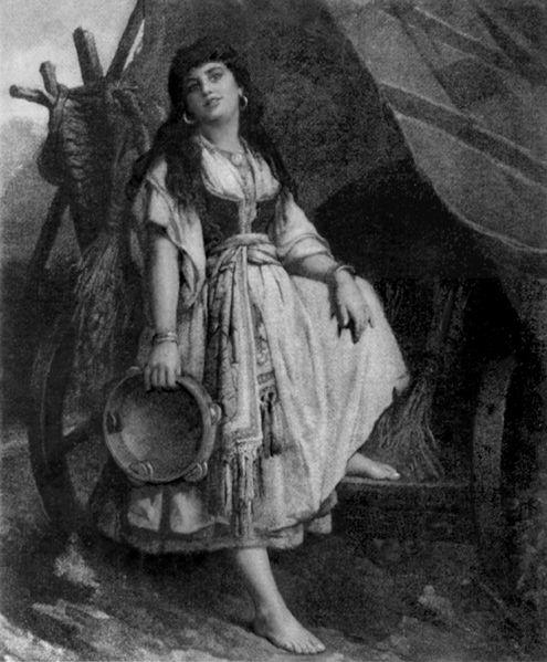 fascination about gypsies in western art