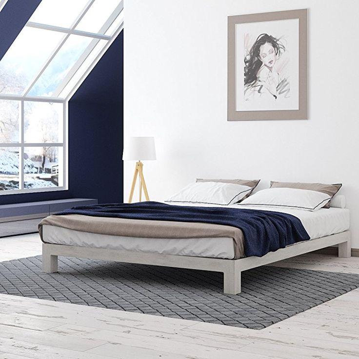 Aura Metal Platform Bed White 251 12
