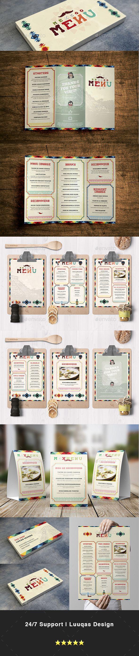 Mexican Food Menu Template - Food Menus Print Templates Download here : https://graphicriver.net/item/mexican-food-menu-template/17343241?s_rank=219&ref=Al-fatih
