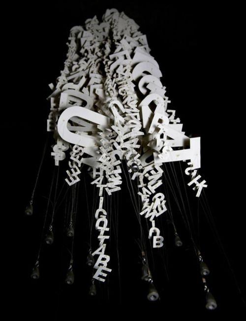 "chandelier: ""visual poetry"""