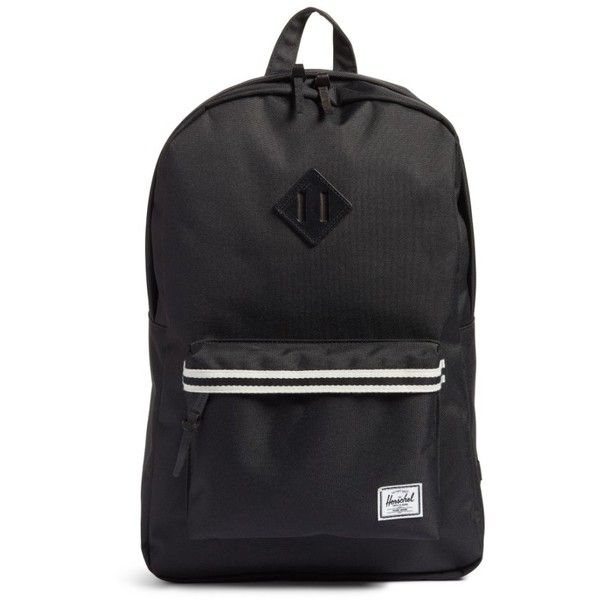 Men's Herschel Supply Co. Heritage Backpack ($47) ❤ liked on Polyvore featuring men's fashion, men's bags, men's backpacks, mens laptop backpack and mens backpack
