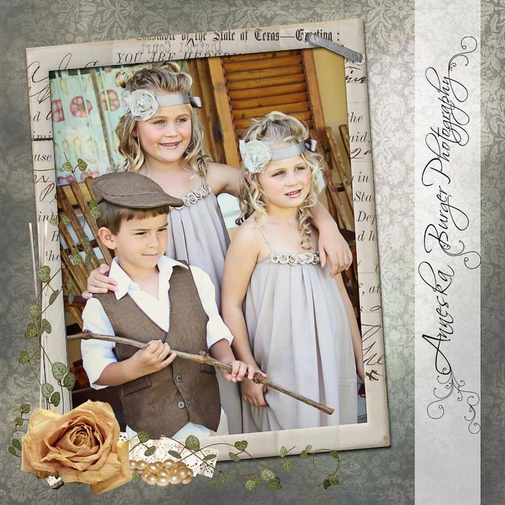 THe most beautifull flowergirls and ring carrier!!