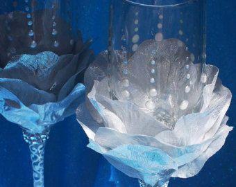 Boda turquesa gafas a elegante oceánica boda por WeddingbyAnn