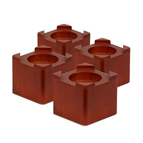 #sale #Honey-Can-Do STO-01151 Wood Bed Lifts, Cherry Finish, 4-Pack. Bed risers may be stacked together when not in use. Add an additional 3.5-Inch of height to ...