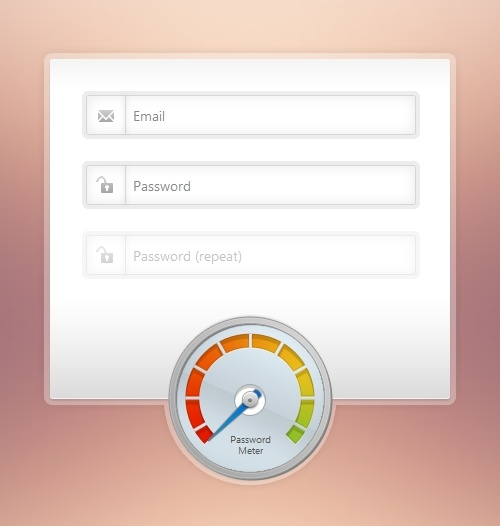 Tutorial: Create a Beautiful Password Strength Meter. In this tutorial we will be creating a beautiful password strength indicator. It will determine the complexity of a password and move a meter accordingly with the help of the new Complexify jQuery plugin. Only when a sufficiently complex password is entered, will the user be able to continue with their registration.