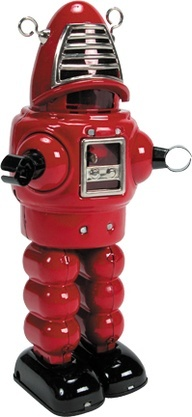 A Robbie-like robot | Vintage and Retro Space Age Raygun, Rocket and Robot | #SpaceAge #Robot #SciFi
