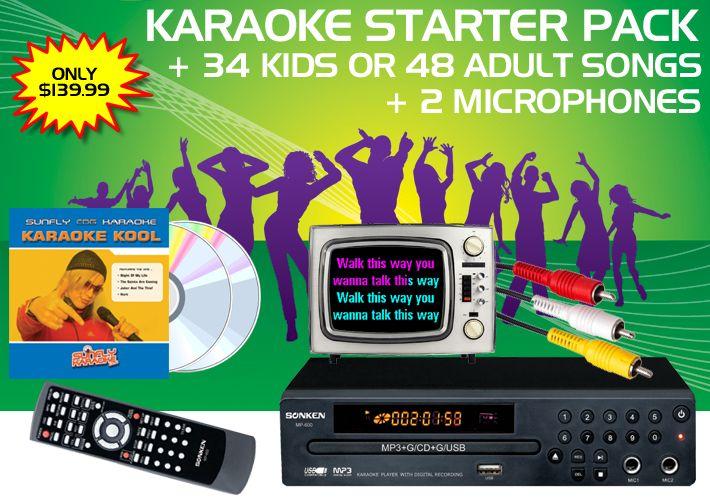 Sonken MP600 Karaoke Starter Pack our top selling karaoke system fro kids!