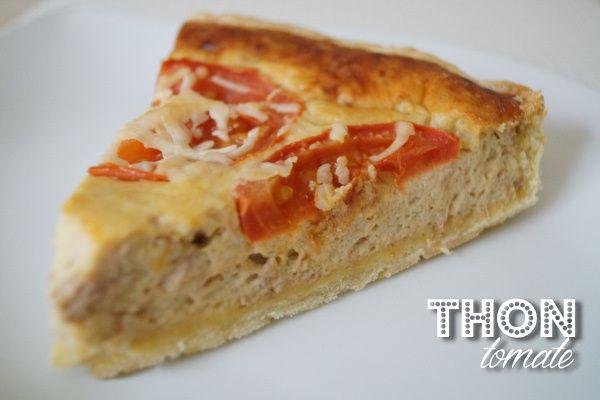 La tarte au thon/tomates au fromage blanc