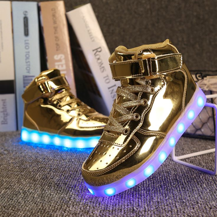 2017 Glowing Sneaker for Boys USB Charger LED Shoes Luminous Sneakers LED Sports Shoes Lighting Up Kid LED Shoes for Boys Girls #Affiliate