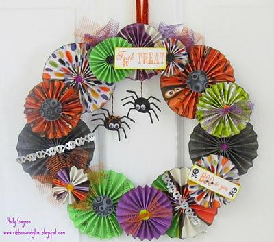 valentine cupcake wreath