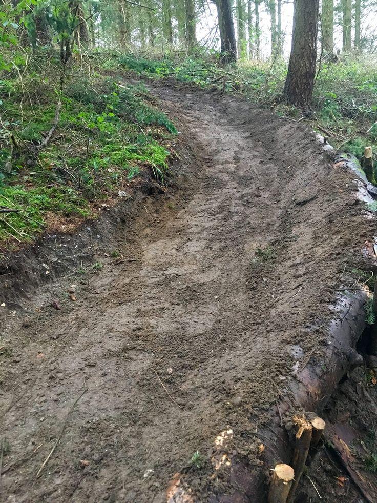 Construction of MTB tracks in Æble Forest near Nyborg, Denmark