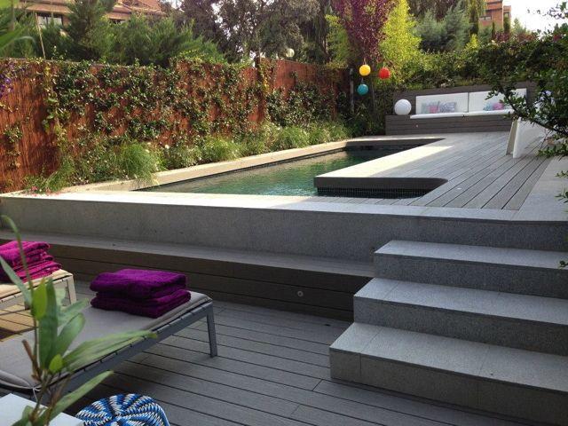 Diseño de jardín y construcción de piscina gunitada