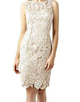 Adrianna Papell Lace Sheath Illusion Neck Dress -  Petite Size 12 - $131.78