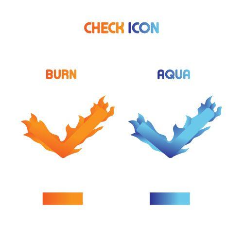 Checkmark , check,approve,true aqua burn style art color icon for app