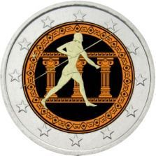 2 Euro, Colorized, 25th Centenary of the Battle of Marathon, Greece 2010 -